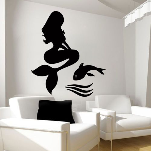 Wall-Decal-Mermaid-Vinyl-Sticker-Home-Decor-Interior-Bedroom-Bathroom-Hall-LM72