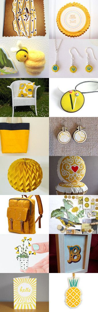 Sunshine Yellow by Hannah Miles on Etsy--Pinned with TreasuryPin.com