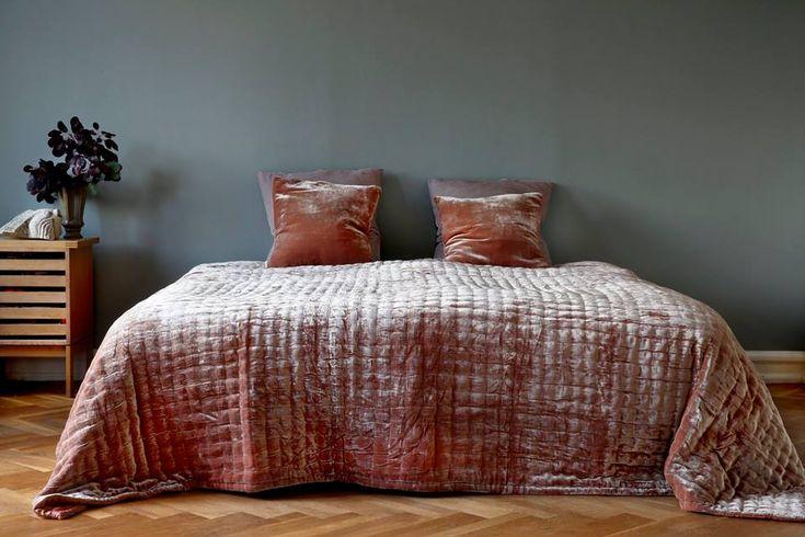 Handmade velvet silk bedspread Fabric Copenhagen #fabriccopenhagen