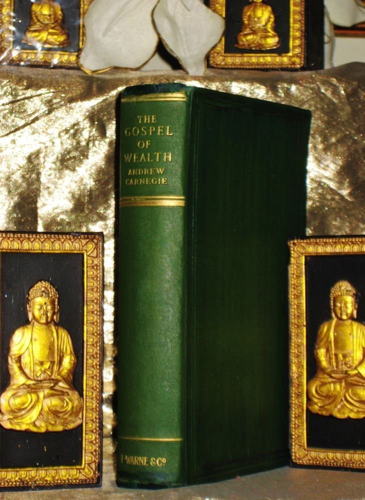 """BOOK INSPECTED AND APPROVED. """"The Gospel Of Wealth"""" is in very good collectible condition.<br/><br/>""""THE GOSPEL OF WEALTH: By Andrew Carnegie, """"The Master Mind Of Success, The teacher, instructor and mentor of Napoleon Hill and the Trail Blazer for millions"""". The Gospel Of Wealth is in the category withNapoleon Hill """"The Law Of Success, The Law Of Attraction"""", Wallace D. Wallace """"The Science..."""