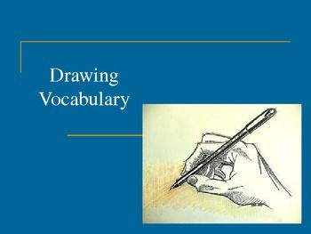 This 18 slide PowerPoint covers 12 drawing vocabulary terms. A quizes is included for students to use as a pretest or final assessment. The assessment can also be used to guide the presentation.