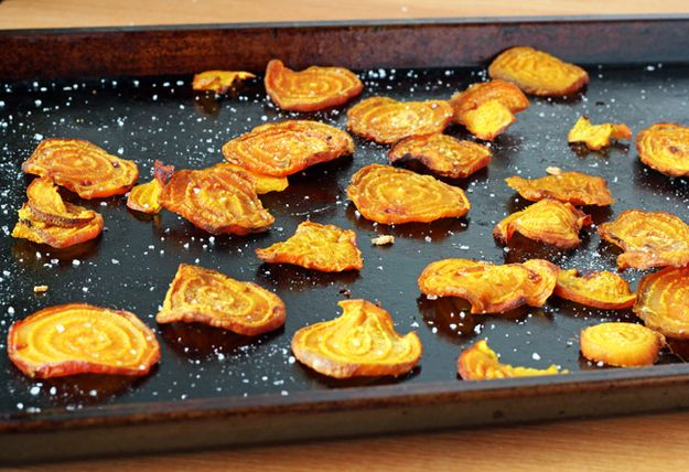 You can also bake the slices to make crispy beet chips… | 31 Things To Do With Confusing CSA Vegetables