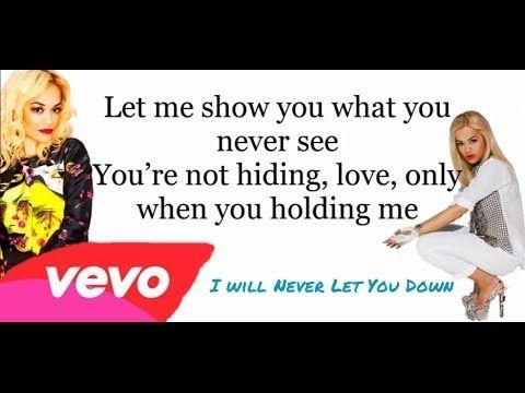 i will never let you down rita ora lyrics - photo #20
