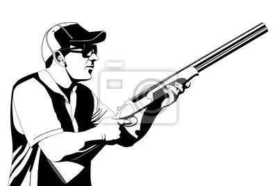 střelec brokovnice silueta - Hledat Googlem