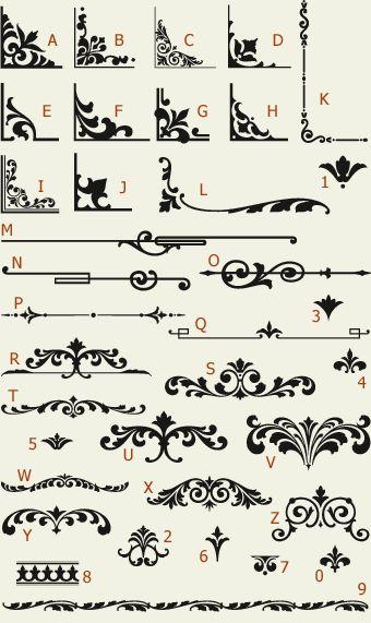 Letterhead Fonts / LHF Main Street Ornaments / Golden Era Studios NOT FREE