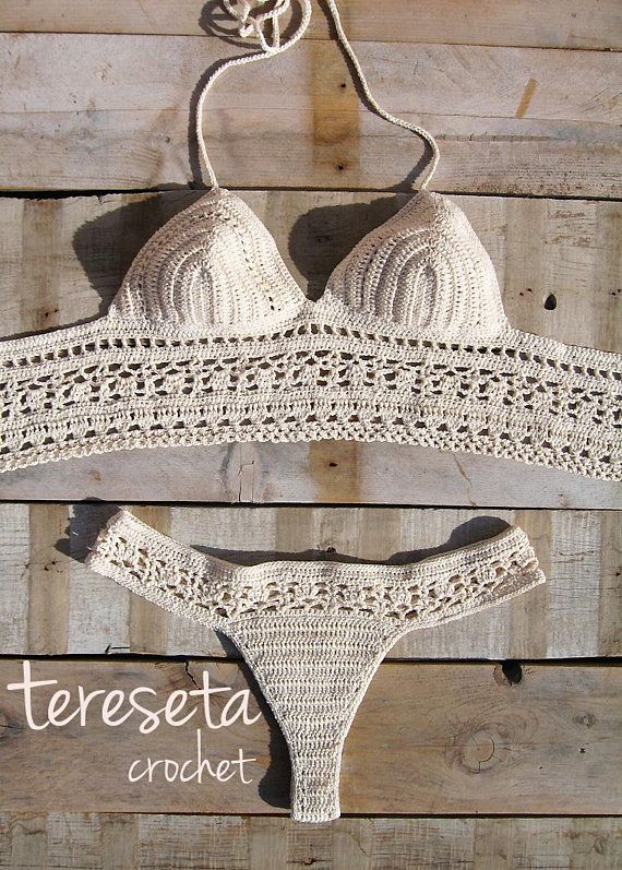 99e221638498 Raw Crochet Bikini | bikinis | Bikinis crochet, Bikinis y Vestidos ...