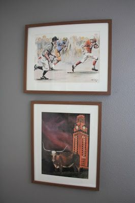 Classy Man Cave: Texas Longhorn-Themed Game Room Décor.  Click or visit FabEveryday.com for all the details on how to style your own chic (not tacky) man cave!