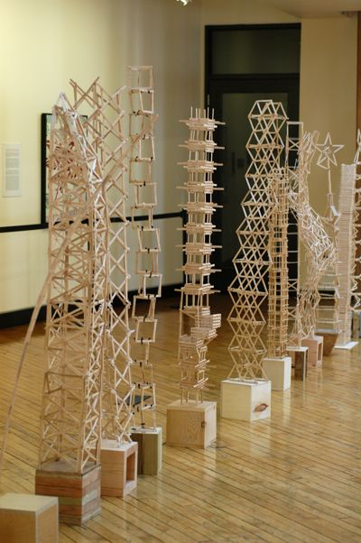 Popsicle Stick Projects | Popsicle Stick Towers: a Tasty Treat for the Eyes « Blog