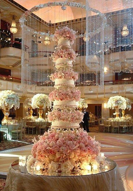 Indian Weddings Inspirations. Pink wedding cake. Repinned by #indianweddingsmag #romantic Wedding