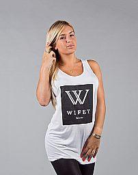 WLKN : WIFEY Collection Capsule Women Tank Top, White, O/S