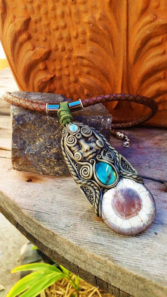 Creation Goddess Necklace with labradorite & by EnchantedShaman