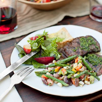 Grilled Skirt Steak with Red Wine Chimichurri | Recipe ...