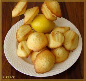 Madeleines au citron de Cyril Lignac