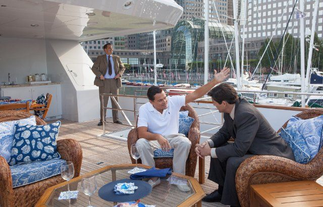 Still of Leonardo DiCaprio, Kyle Chandler and Ted Griffin in The Wolf of Wall Street (2013)