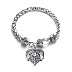 ****Due to High Demand item has a 7 to 14 Business Day processing time prior to shipping.*** Show the world you hold that special woman in your life close to your heart with this inspirational bracelet! This piece features a 7 1/2 inch braided chain with a decorative lobster claw heart clasp and a high polish .925 sterling silver finish. The charm measures 1x1 inches and features 2 carats of sparkling round cut pave set cz accents. This piece is proudly made here in the USA!