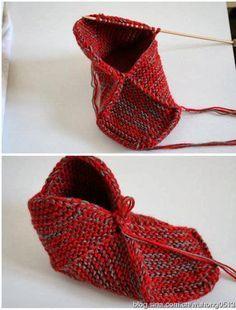 Oi amigas (os)! Pantufas com quadrado perfeito em trico: como fazer o quadrado perfeito aqui: http://domihobby.ru/966-tehnika-vyazaniya...