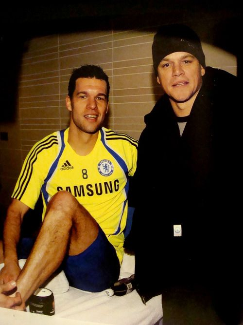 Twins! Matt Damon and Michael Ballack