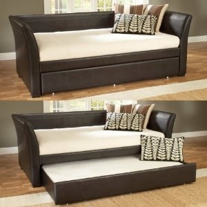 """Hillsdale Furniture 1519DBT Malibu Day Bed, Brown Leather - Would love something like this for the """"man cave""""."""