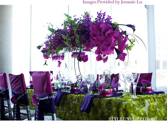 Nevada Museum of Art Wedding Venue / Modern Green and Purple Wedding Details / Jeramie Lu Photography / via StyleUnveiled.com