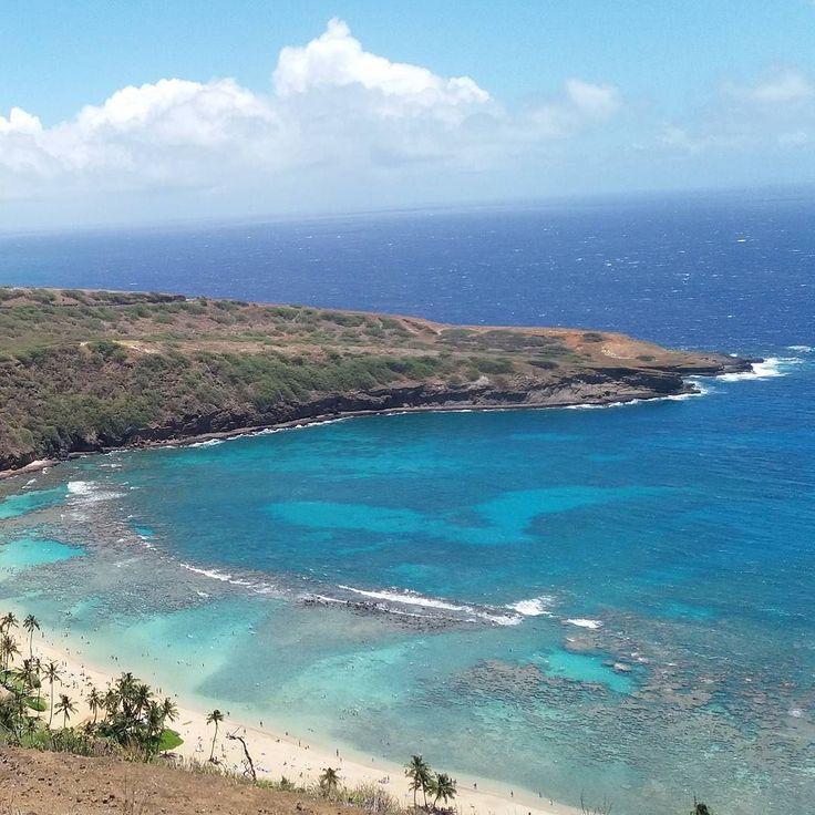 ハイキングビュー #nofilter  The hiking view! I was snorkelling in this bay. So beautiful and the color looks absolutely amazing. I really enjoyed the hike and adventure!  ここでシュノーケリングしてたんだよ今日は上から見下ろす あの海にたくさんのお魚さんいました #絶景スポット#絶景#ハワイ#ハワイ旅行#ハワイ好き#hawaii#hawaiigram#view#ocean#beautiful#hawaiigram#genic_travel#genic_hawaii#travelgram#ハイキング#シュノーケル#ハワイ旅行記#写真が好きな人と繋がりたい#hiking#nature#自然#アメリカ#女子旅#旅#travel#picoftheday by maaiqheart