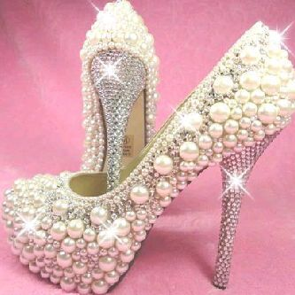 Beaded pearl shoes