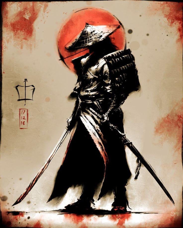 Samurai, Çağlayan Kaya Göksoy on ArtStation at https://www.artstation.com/artwork/Gqq53