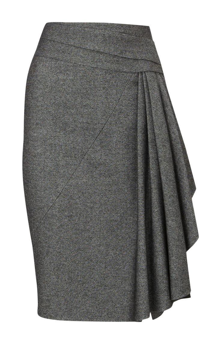 Karen Millen Twisted Tweed Skirt Grey: Lovelovelove me some pencil skirt!