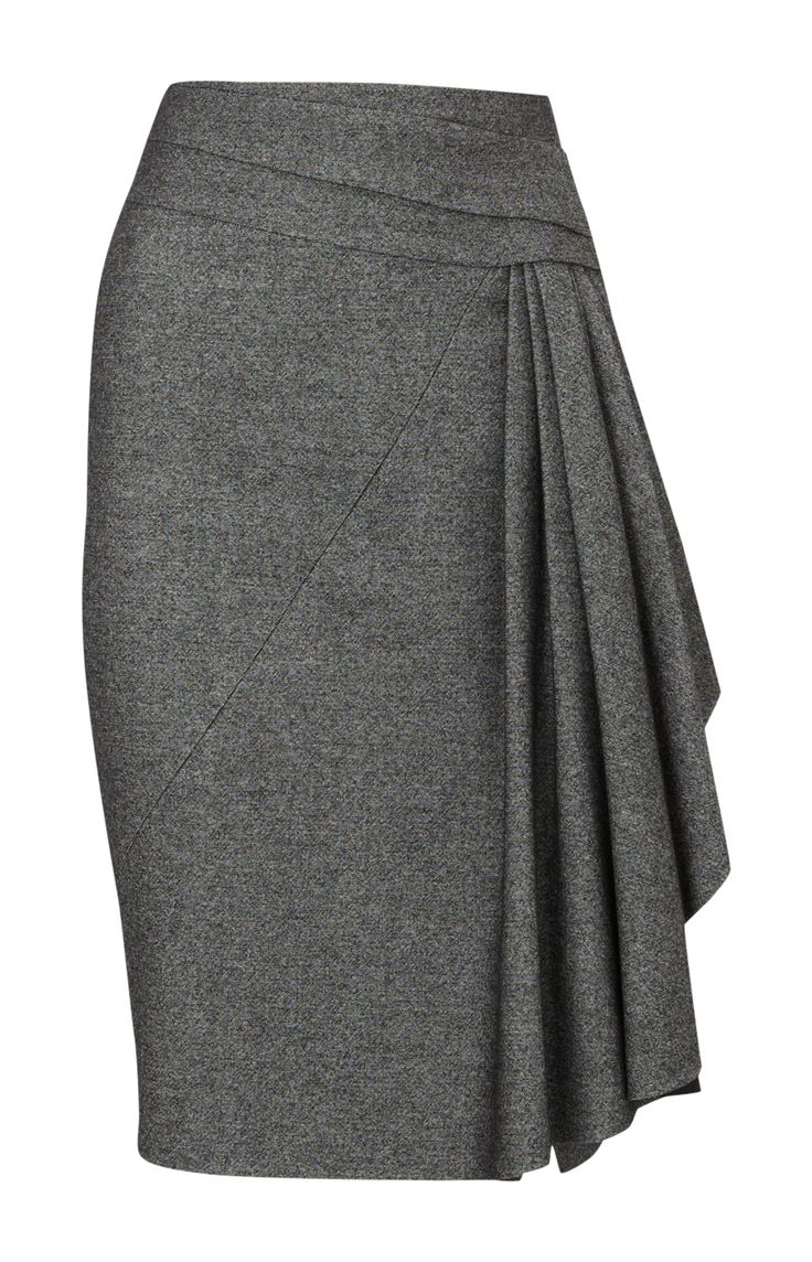Tweed Skirt | Sale Garments | Grey Twisted tweed skirt | KarenMillen Stores Limited