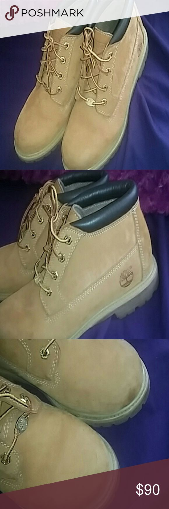 Timberland Nellies Timberland nellies, decent condition. Sorry for the SUPER BAD QUALITY PICTURES I took using poshmark camera instead of my camera Timberland Shoes Ankle Boots & Booties