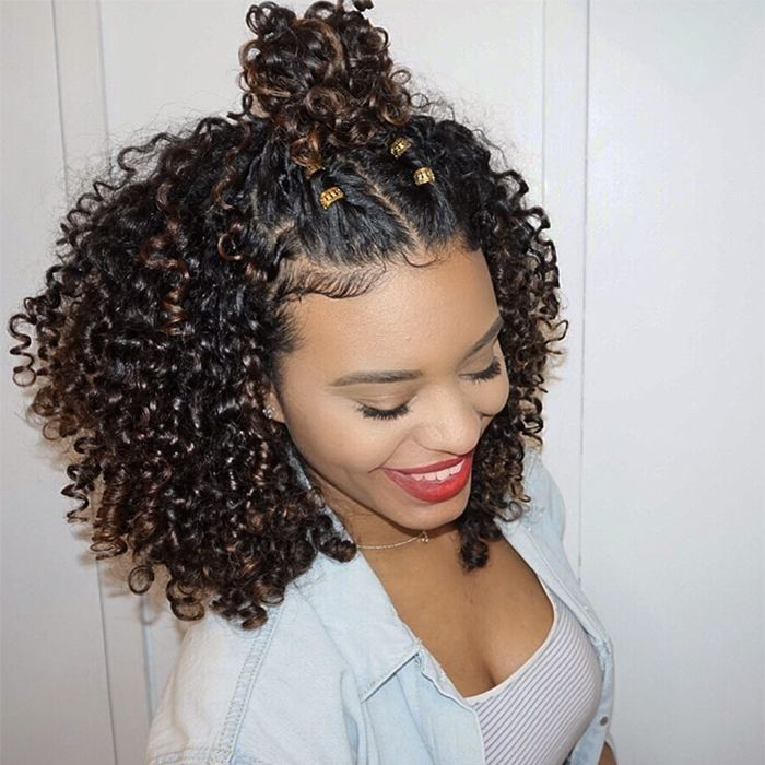 8 Curly Hairstyles To Make You Look Younger Curly Hair Half Up Half Down Curly Hair Styles Naturally Natural Hair Styles