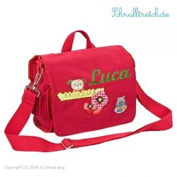 Rucksack-Tasche mit Namen Rot