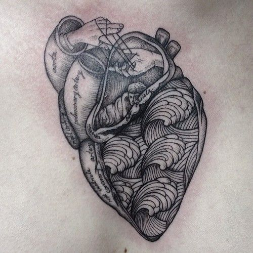 http://tattoo-ideas.us/wp-content/uploads/2014/03/Beautiful-Black-Heart-Tattoo.jpg Beautiful Black Heart Tattoo #BlackInk, #Chesttattoos