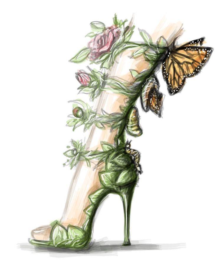 Shamekh Bluwi fanciful shoe sketch
