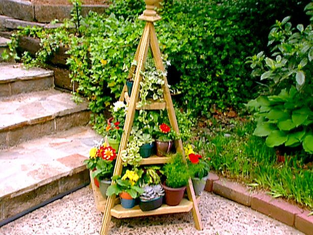 1000 Images About Patio Plant Shelves And Pots On