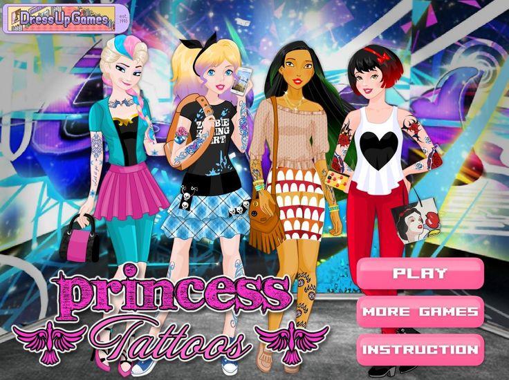 Popularne dziewczyny z bajek Disneya postanowiły nieco zmienić swój wygląd. Dość z grzecznymi księżniczkami! http://www.ubieranki.eu/ubieranki/9942/tatuaze-ksiezniczek.html