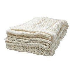 ANNBRITT plaid, bianco, lavorato a maglia Lunghezza: 180 cm Larghezza: 115 cm