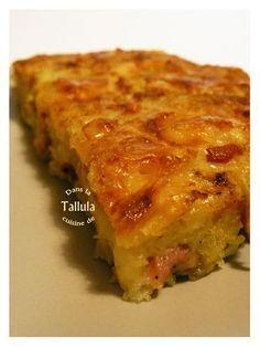 ..Gâteau réconfortant aux pommes de terre façon raclette..