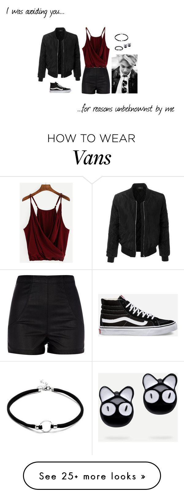"""#clubfeels"" by roxannetopper on Polyvore featuring River Island, LE3NO and Vans"