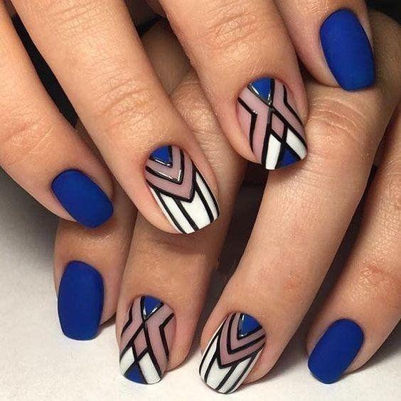 50 Geometric nail art designs for 2019
