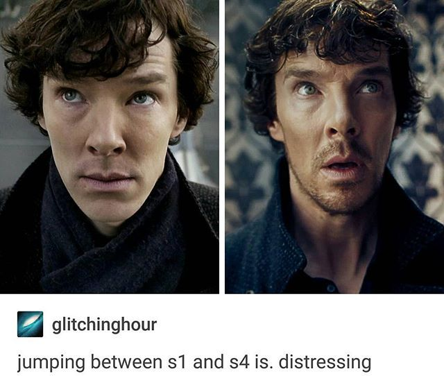 I liked him with the scruff, lol. But yes so much has changed between season one and season four.