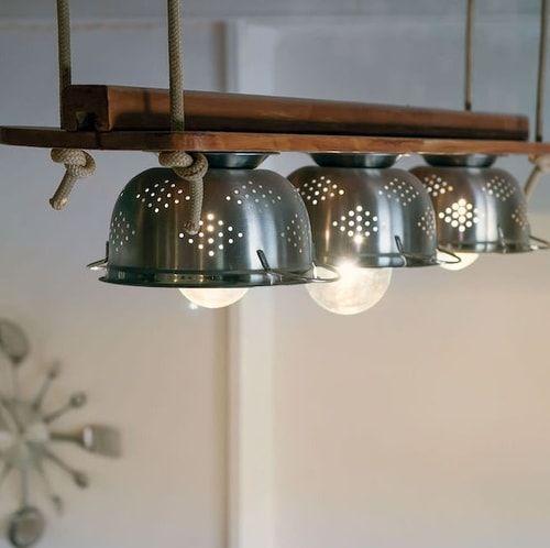 Arredare casa con il riciclo creativo.Idee per tavoli, lampadari e ...