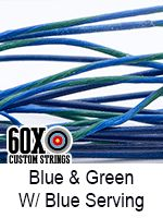 blue and green with blue serving custom bow string color