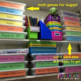 Amazing Organization: Prepping for the beginning of the next school year at the end of the present year.
