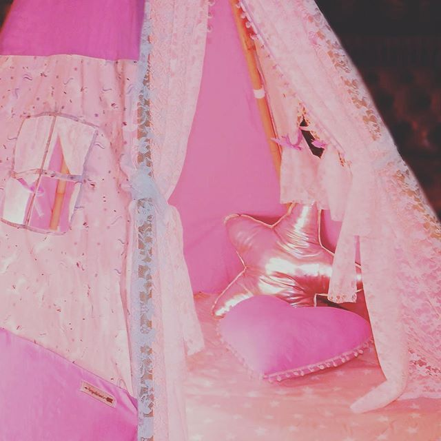 Do you believe in #unicorns ?  The new #magic #design only by #teepeelicious ® #handmade #customade #teepee #girly #pink #lace #rainbow #kidsroomdecor #kidsinterior #barnrum #starpillow #star #pillow #heartpillows #cushion #giftideas #madeingreece
