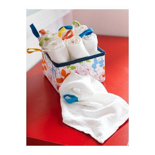 IKEA KRAMA - Washcloth, white / 10 pack - 30x30 cm: Amazon.co.uk: Kitchen & Home