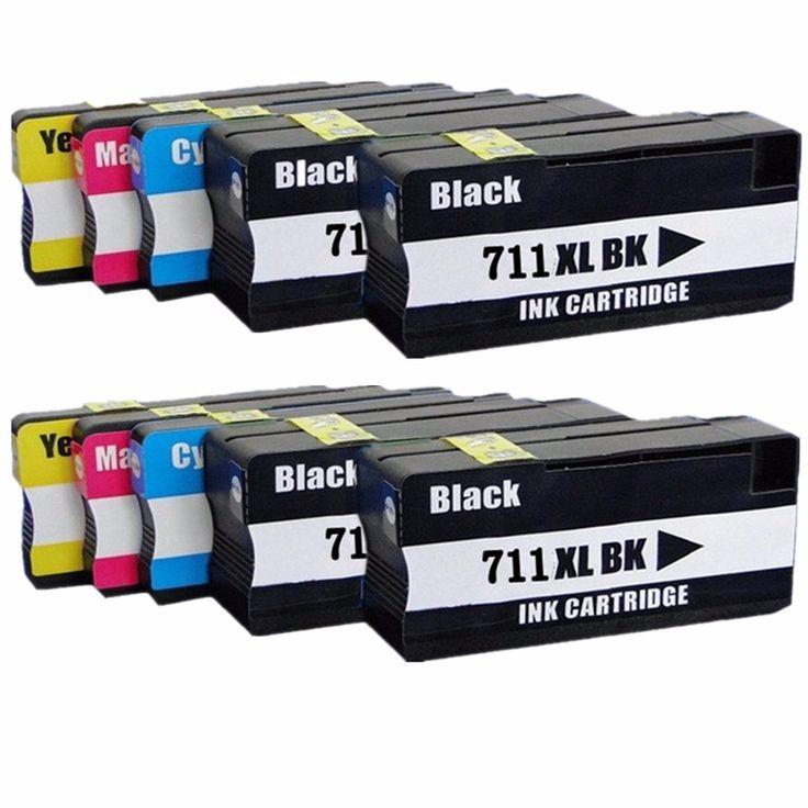 $45.19 (Buy here: https://alitems.com/g/1e8d114494ebda23ff8b16525dc3e8/?i=5&ulp=https%3A%2F%2Fwww.aliexpress.com%2Fitem%2Ffree-shipping-8-pcs-2-sets-Compatible-Ink-Cartridge-for-HP711-HP711XL-use-for-HP-Designjet%2F32359488899.html ) 10 Pk Inkjet Ink Cartridges For HP HP711 711 XL 711XL HP711XL Designjet T120 24/T120 610/T520 24/T520 36/T520 610 Inkjet Printer for just $45.19