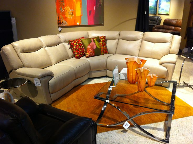 Curved White Leather Sectional   Really Cool! White Leather SectionalsLeather  FurnitureHoustonLeather