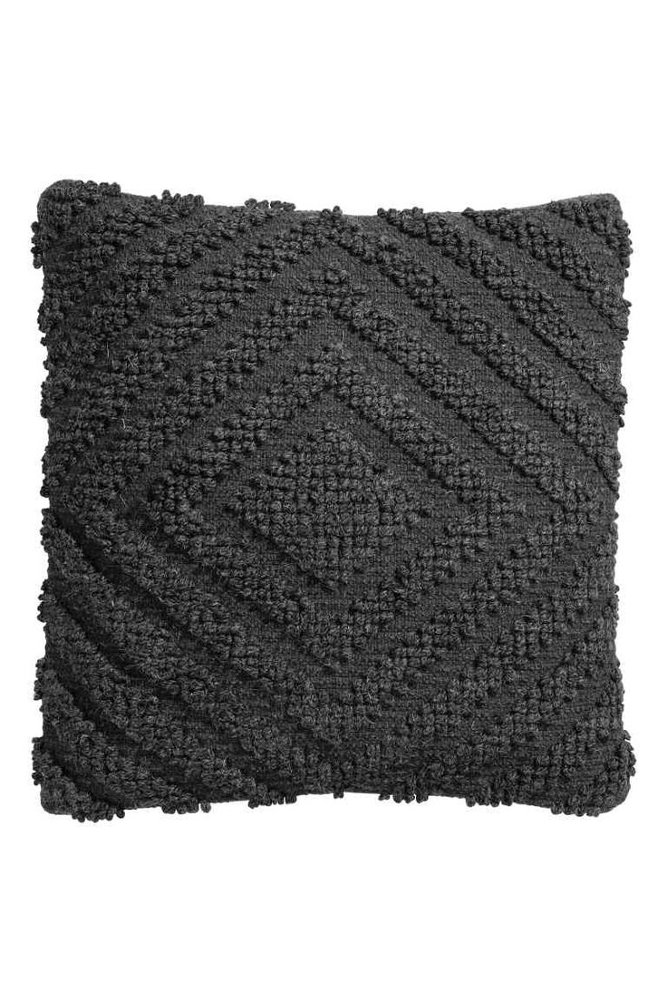 Funda de cojín mezcla de lana - Gris antracita - HOME | H&M ES 1