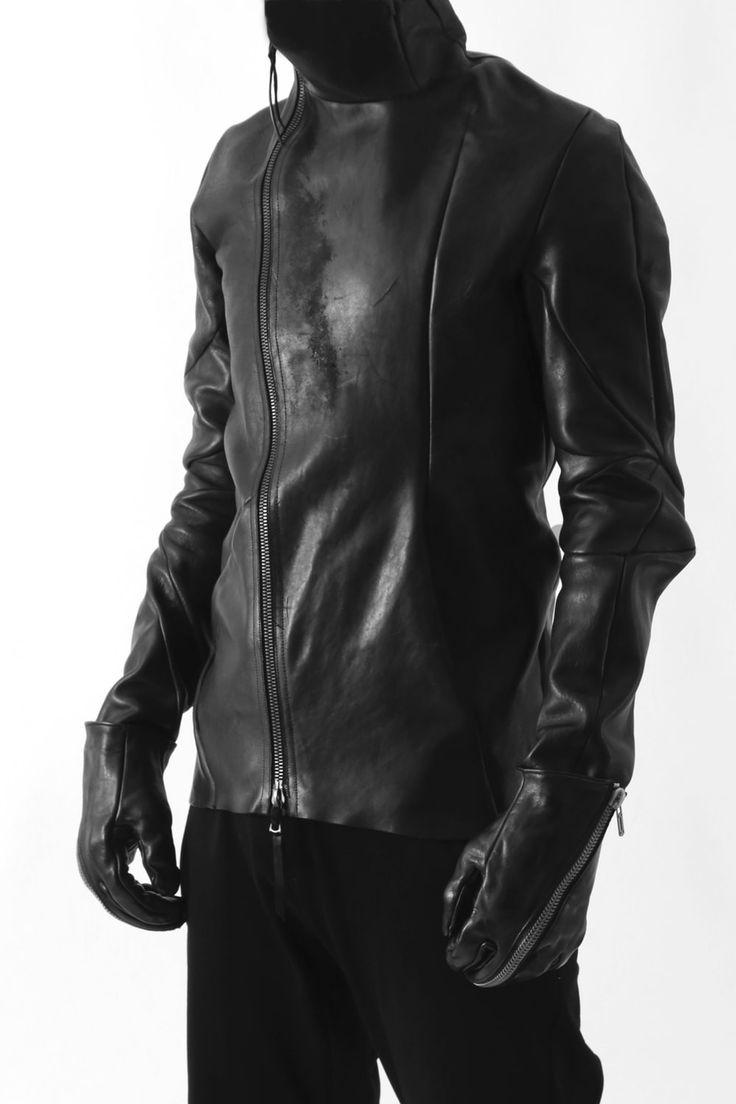 Horse Leather Zip Gloves black - Saddam Teissy 03