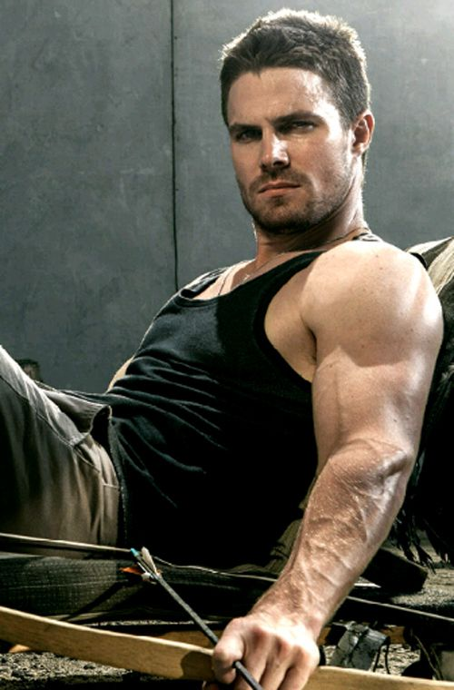 Stephen Amell~ from Arrow.  Canadian sexy beast~